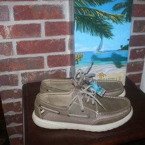 Margaritaville Men's Brown Boat Shoe New in Box 10